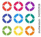 vector circle arrows for... | Shutterstock .eps vector #543552928