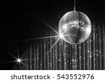 disco ball with stars in... | Shutterstock . vector #543552976