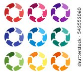 vector circle arrows for... | Shutterstock .eps vector #543553060