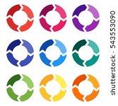 vector circle arrows for... | Shutterstock .eps vector #543553090