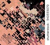 complex pixel pattern... | Shutterstock .eps vector #543555070