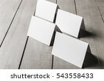 business cards blank mockup | Shutterstock . vector #543558433