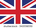 united kingdom flag. vector... | Shutterstock .eps vector #543558550