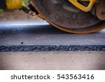 roller compactor on fresh...   Shutterstock . vector #543563416