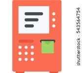 atm icon | Shutterstock .eps vector #543564754