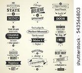 set of inspiring success quotes ... | Shutterstock . vector #543566803