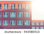 red facaded brick office... | Shutterstock . vector #543580513