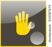 stop hand icon. | Shutterstock .eps vector #543587674