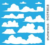 cloud vector   icon background | Shutterstock .eps vector #543593818