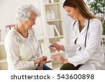 young female doctor making...   Shutterstock . vector #543600898