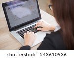 cropped view of business lady... | Shutterstock . vector #543610936