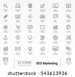 seo  marketing optimization web ... | Shutterstock .eps vector #543613936