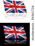 british flag flowing | Shutterstock .eps vector #54361726
