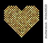 golden hearts with halftone... | Shutterstock .eps vector #543620020