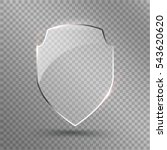 transparent shield. safety... | Shutterstock .eps vector #543620620