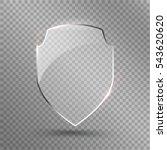 transparent shield. safety... | Shutterstock .eps vector #543620620