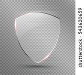 transparent shield. safety... | Shutterstock .eps vector #543620659