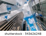 looking up at business... | Shutterstock . vector #543626248