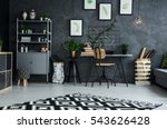 multifunctional living room... | Shutterstock . vector #543626428