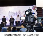 video camera with blurred... | Shutterstock . vector #543626740