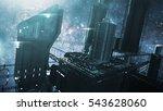 3d rendering impressive space... | Shutterstock . vector #543628060