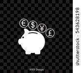piggy bank icon | Shutterstock .eps vector #543628198