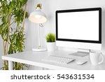 modern creative designer... | Shutterstock . vector #543631534
