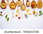 italian food concept .various... | Shutterstock . vector #543631558