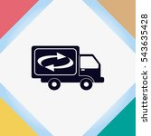 delivery sign icon  vector... | Shutterstock .eps vector #543635428