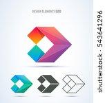 corporate abstract vector logo. ... | Shutterstock .eps vector #543641296