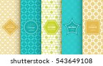 bright retro seamless pattern... | Shutterstock .eps vector #543649108