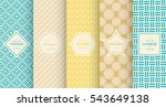 bright retro seamless pattern... | Shutterstock .eps vector #543649138