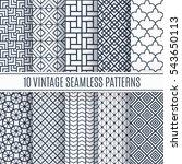 blue line seamless pattern... | Shutterstock .eps vector #543650113