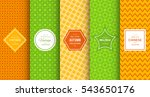 bright retro seamless pattern... | Shutterstock .eps vector #543650176