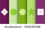 bright retro seamless pattern... | Shutterstock .eps vector #543650188