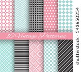 retro chic seamless pattern... | Shutterstock .eps vector #543650254