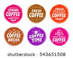 vector set colorful labels for... | Shutterstock .eps vector #543651508