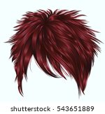 trendy  woman short  hairs ... | Shutterstock .eps vector #543651889