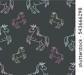 seamless pattern with funny... | Shutterstock .eps vector #543666298