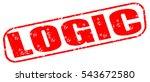 logic red stamp on white... | Shutterstock . vector #543672580