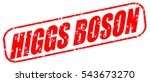 higgs boson red stamp on white... | Shutterstock . vector #543673270