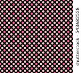 Tile Pattern With Pink Polka...