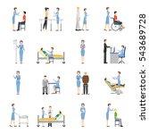 nurse health care decorative... | Shutterstock . vector #543689728