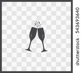 champagne vector icon. isolated ... | Shutterstock .eps vector #543693640