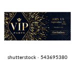 vip club party premium... | Shutterstock .eps vector #543695380