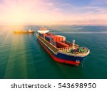 container container ship in... | Shutterstock . vector #543698950