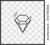 diamond vector icon. isolated...
