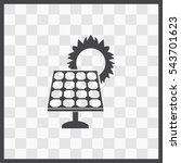 solar collector vector icon....   Shutterstock .eps vector #543701623