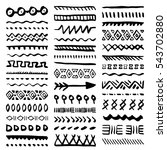 collection of hand drawn... | Shutterstock .eps vector #543702880