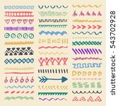 collection of hand drawn... | Shutterstock .eps vector #543702928